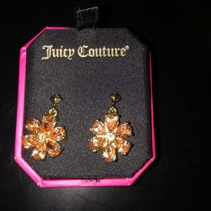 NWT Juicy Couture flower earrings
